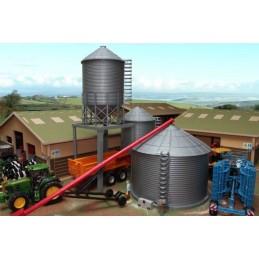 Lot de 3 silos à grain + vis