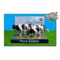 Lot de 2 vaches noires debouts