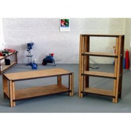 1 Etabli + 1 Etagère en bois pour atelier