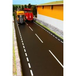 Tapis route 2 voies peintes