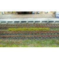 10 bandes d'herbe claire de 5-6 mm / 10 cm  . Héki