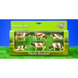 Lot de 6 vaches Normandes