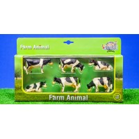 Lot de 6 vaches Noires
