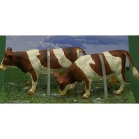 Lot de 2 vaches Normandes debouts