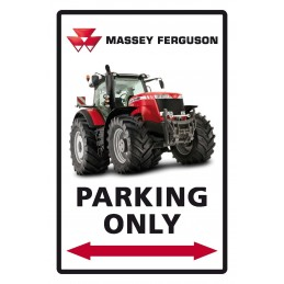 "Plaque Métal "" Massey Ferguson Parking"""