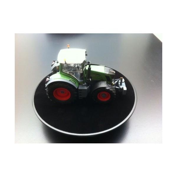 Plateau tournant socle feutre noir 25 4 cm chenedol for Miroir tournant