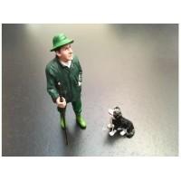 """Agriculteur avec son chien """"Border Collie"""""""