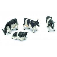 3 Vaches Frisonnes + 1 Taureau