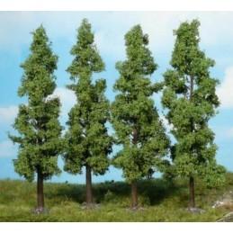 4 Arbres à feuilles 16 cm