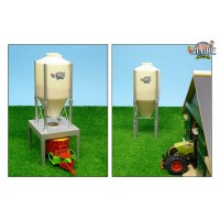 Silo aliment avec 2 supports
