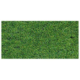 Tapis d'herbe verte épais (6 mm) 40 cm x 24 cm